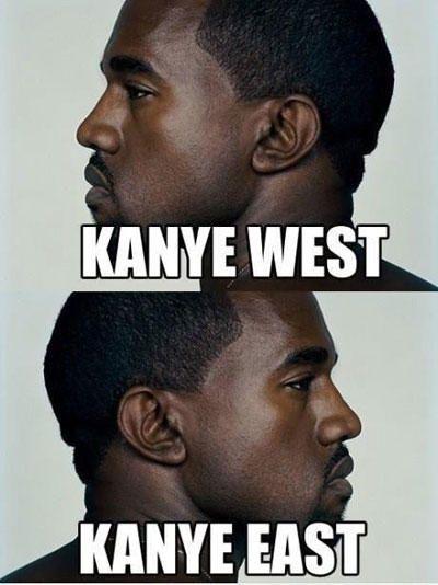 Funny Celebrity Name Pun Kayne West Kanye East Celebrity Name Puns Celebrity Puns Funny Puns