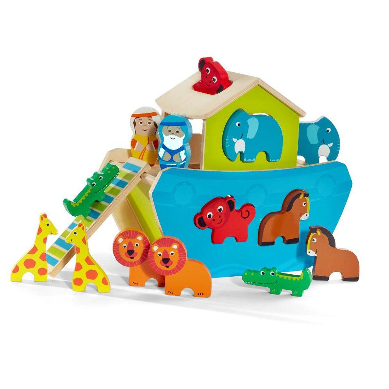 Imaginarium Noah S Ark Animal Shape Sorter 15 Piece Noahs Ark Animals Black Friday Toys Toys
