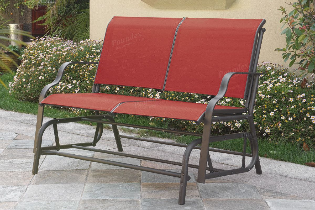 poundex glider loveseat p50120 products pinterest gliders