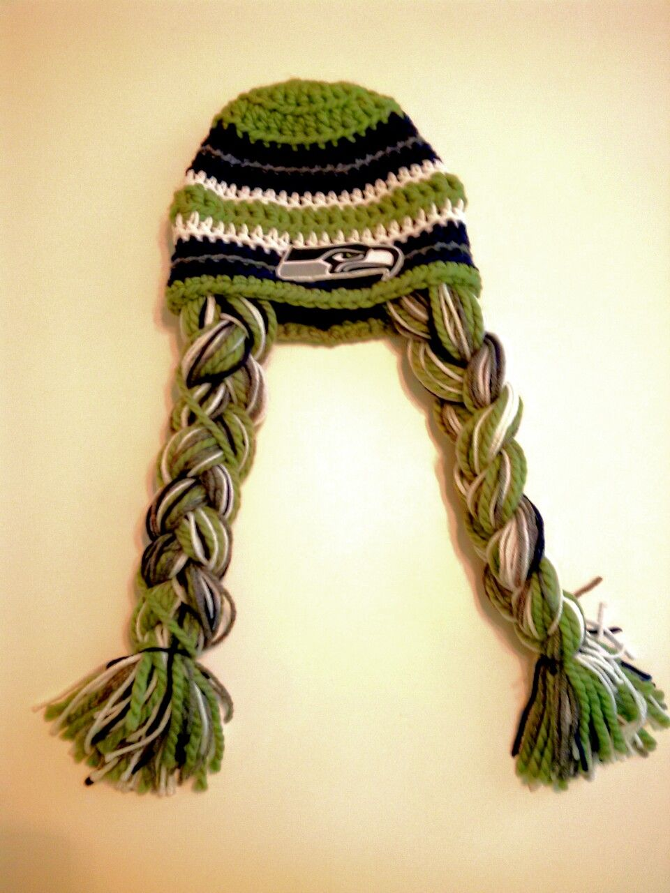 Pigtail Beanie for the 12th man that is a lady :} | Mohawk Beanie ...