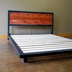 Another Variation On The Kraftig Theme Steel Frame Is 2x3 Inch Awesome Bedsheadboard