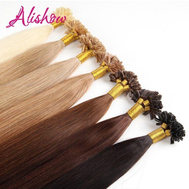 Best Sellers 4400 Buy Alishow 50g Remy Human Hair Nail U Tip Hair