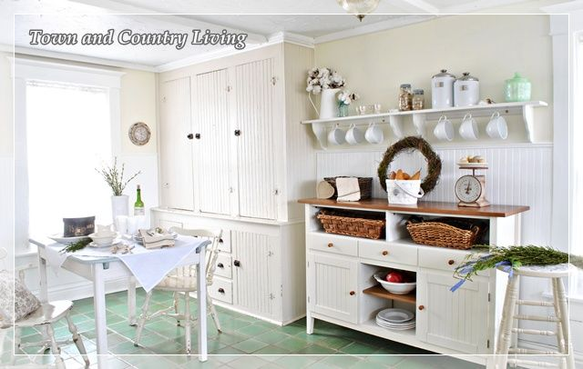 Built in cupboard makes up for no overhead cabinets bead for Easy to clean kitchen cabinets