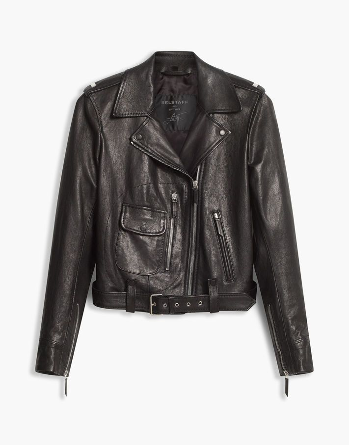 38080cbb808 A timelessly cool biker-style leather jacket made from polished lambskin  from the Liv Tyler collaboration. Shop the Alconbury biker jacket from  Belstaff US.