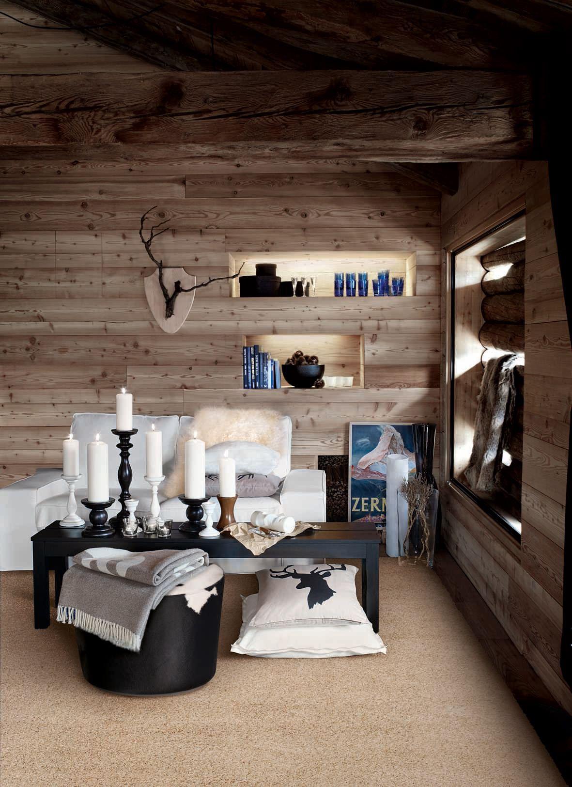 l 39 ambiance chalet deco pinterest chalet ambiance et. Black Bedroom Furniture Sets. Home Design Ideas