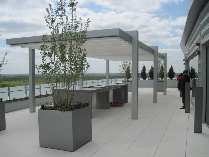 retractable rooftop patio cover systems metro park vi roof
