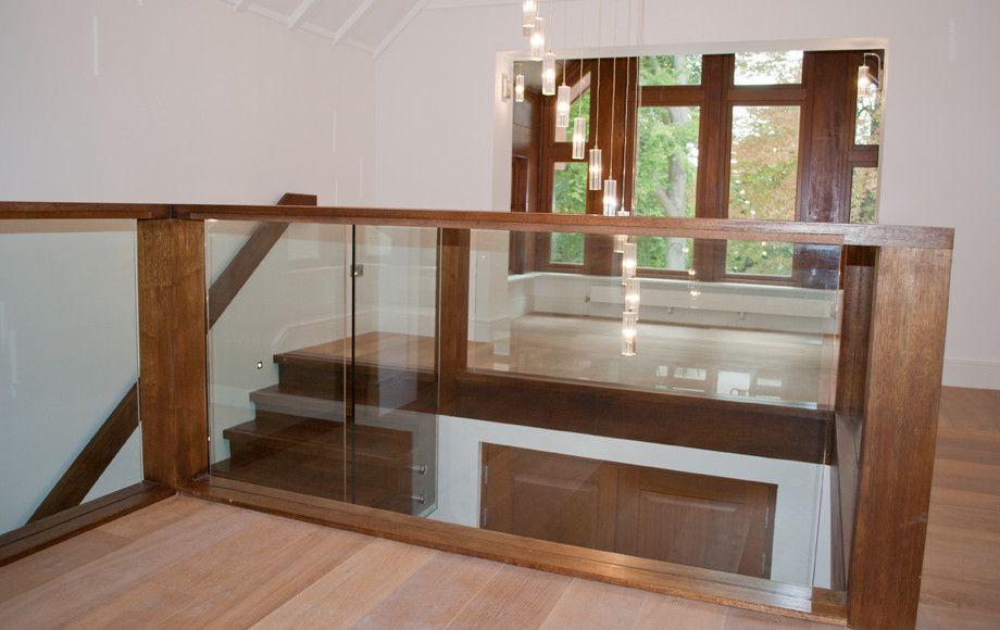 Timber and glass balustrade | Railing design, Glass ...