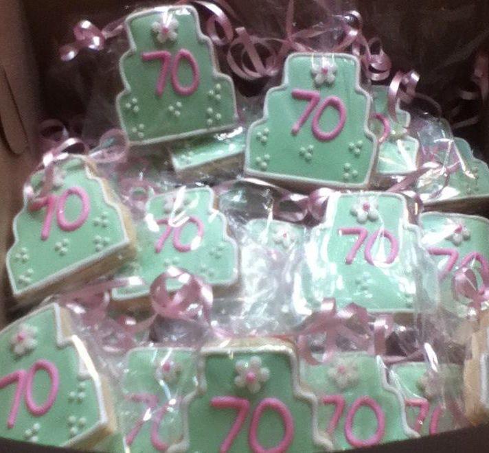 Happy 70th Birthday cookies | Runde Geburtstage, Kuchen und ...