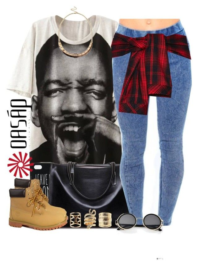 """""""Oasap.1"""" by nasiaswaggedout ❤ liked on Polyvore featuring ASOS, Timberland, Mustard Seed and Charlotte Russe"""