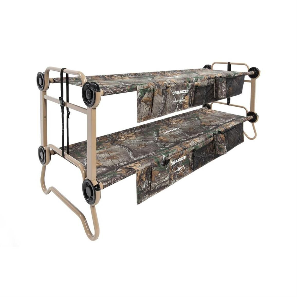 Large Cam O Bunk Portable Bed With Organizers In Realtree Xtra Camo Single BedsCamping CotCamping