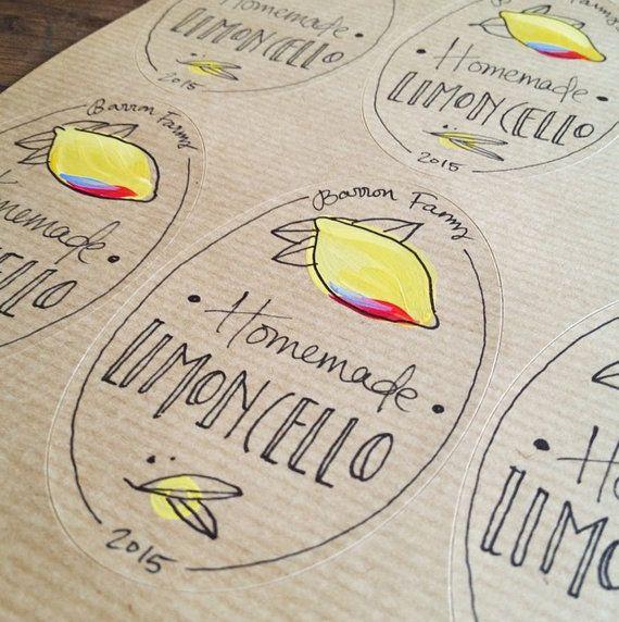 Superb 10 Limoncello Etiketten   Personalisiert Ovale Etiketten, Individuelle  Aufkleber   Limoncello Oder Andere Bewahren!
