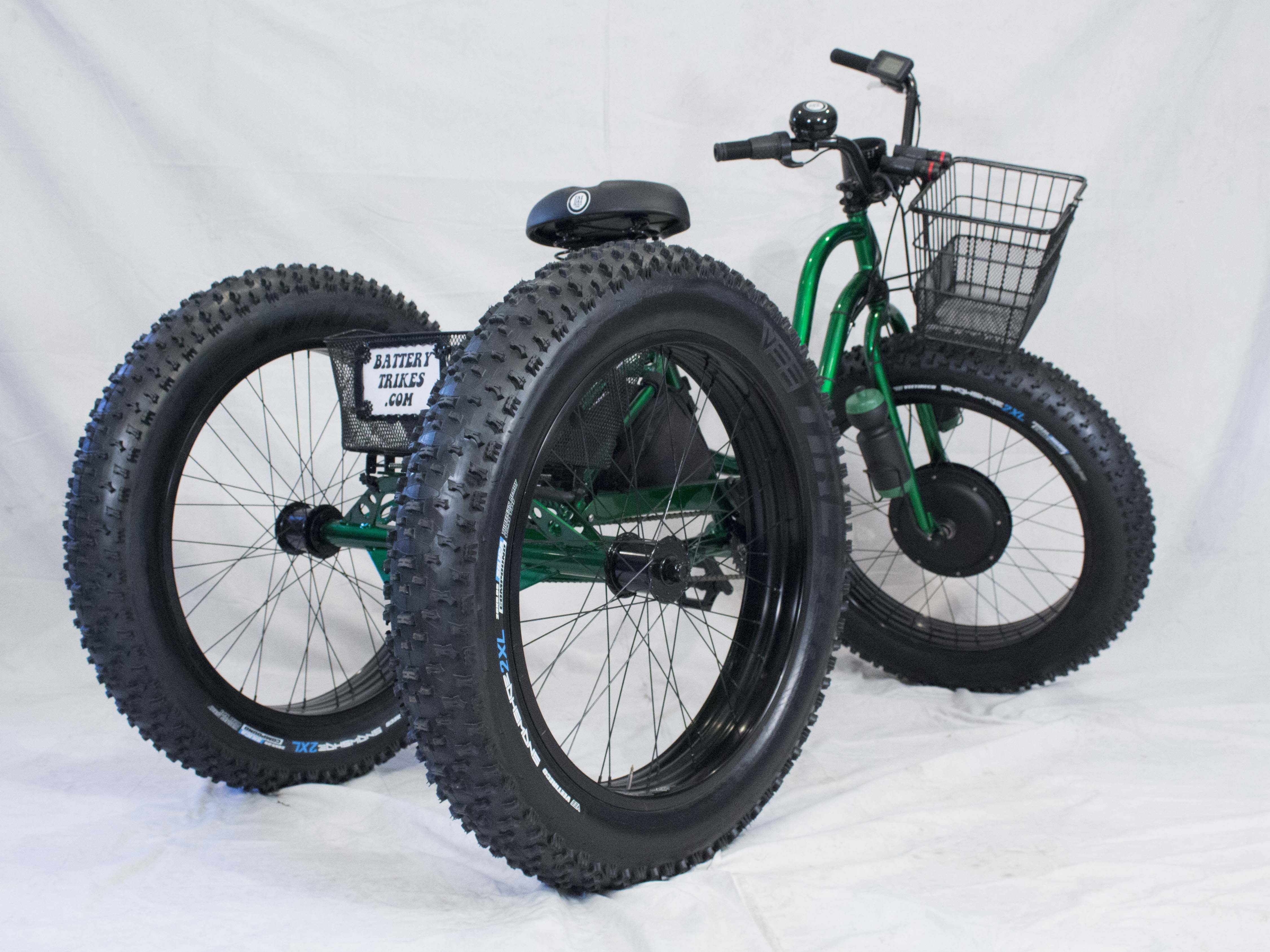 Electric fat tire trike adult tricycle