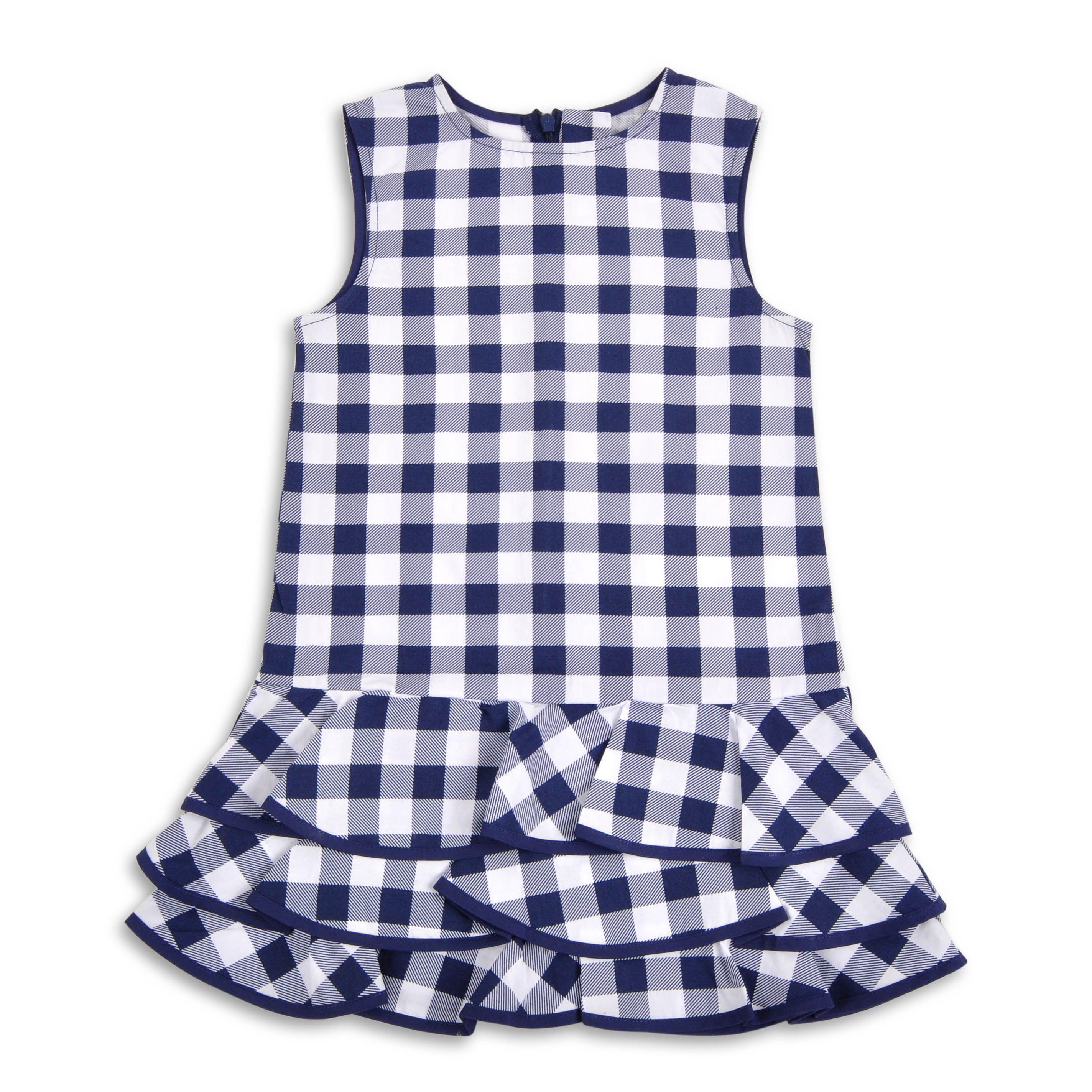 aee1e5b333 Vestido EPK para niña de vichy (cuadros) color azul marino ...