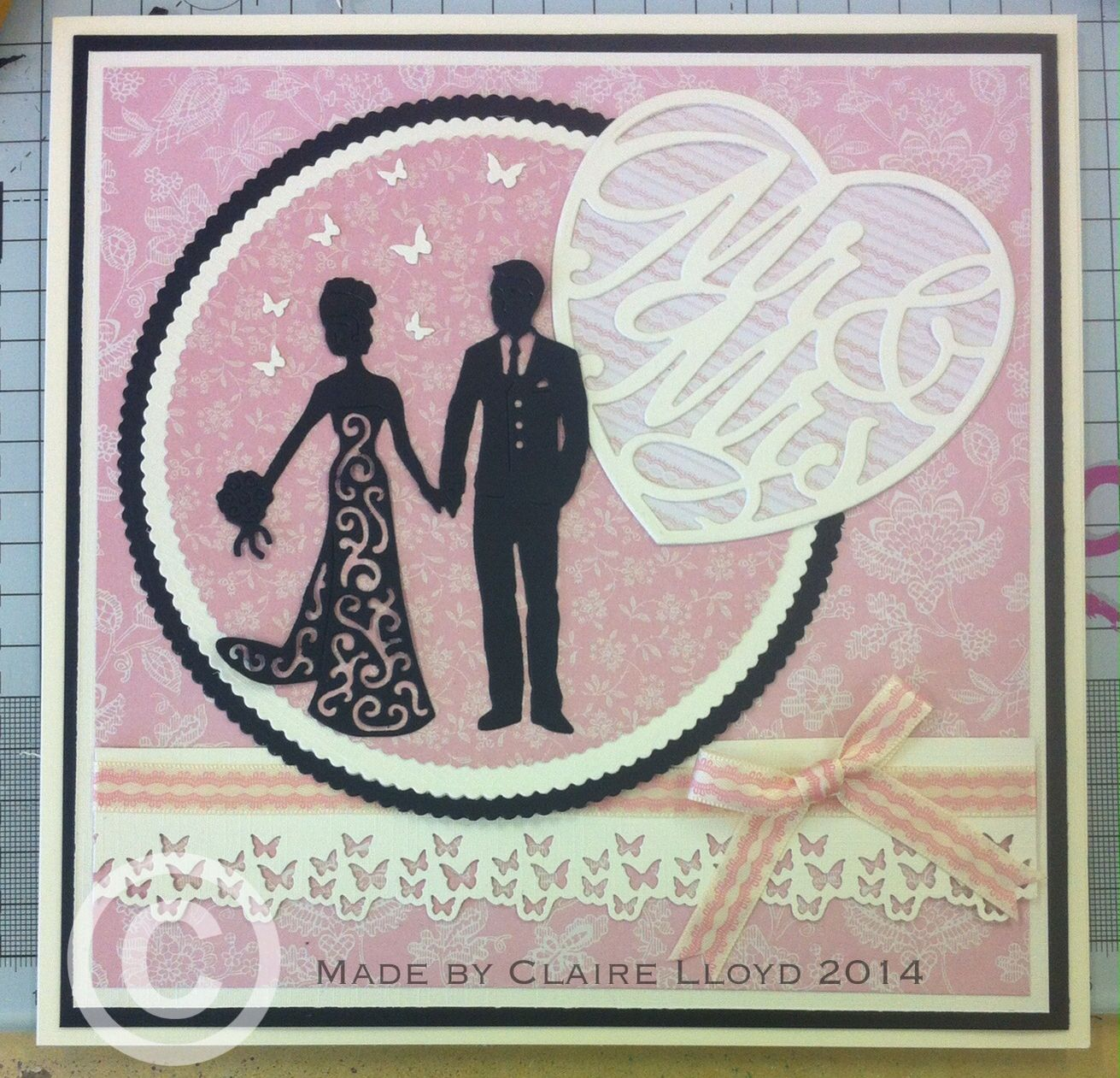 tattered lace bride and groom all other dies are tonic
