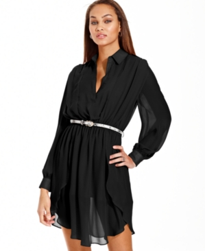 #XOXO                     #Juniors                  #XOXO #Dress, #Long #Sleeve #Belted #Paneled        XOXO Dress, Long Sleeve Belted Paneled                                        http://www.snaproduct.com/product.aspx?PID=5480652