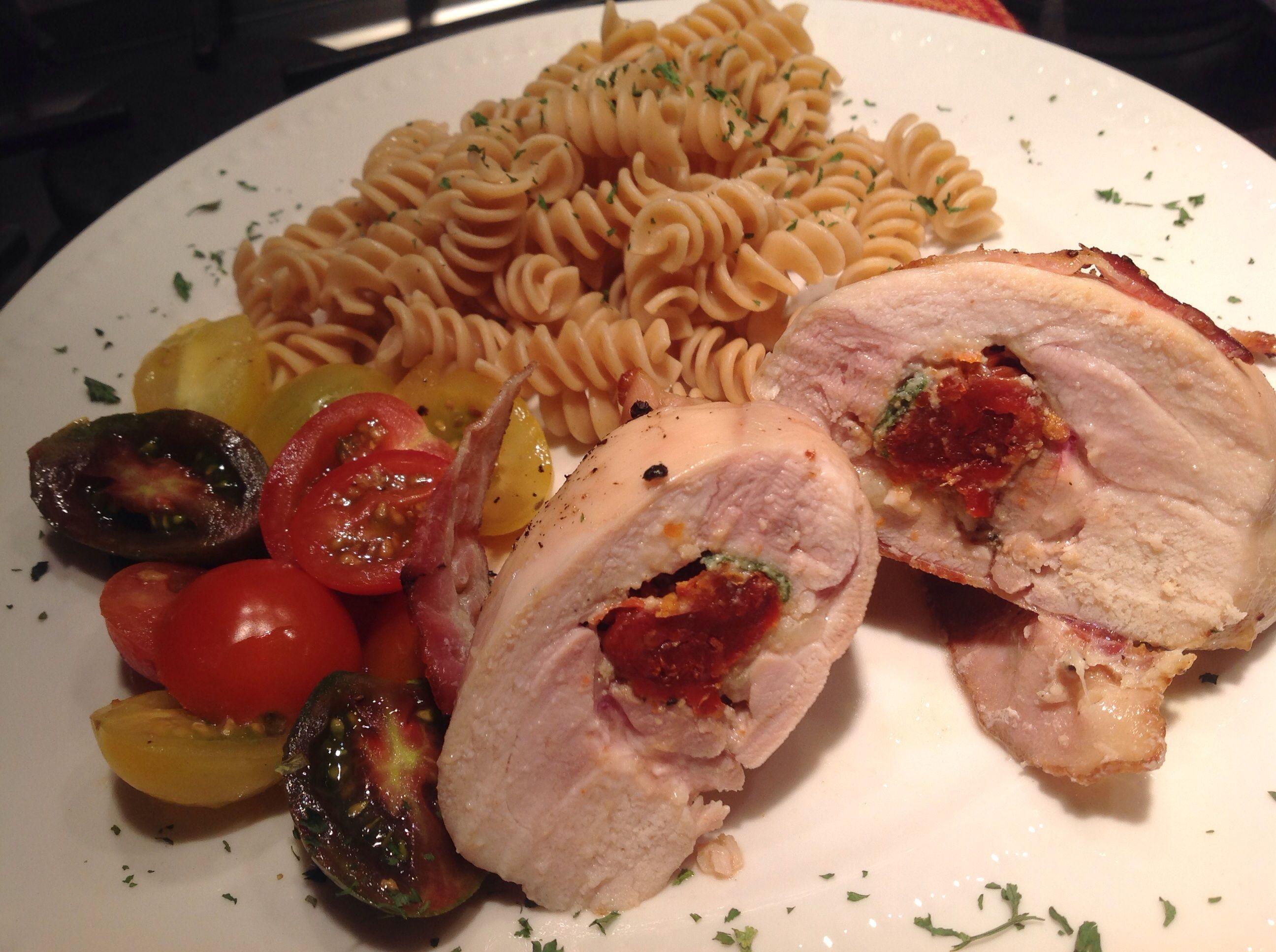 Mascarpone Sage and Sundried Tomato-Stuffed Chicken Thighs