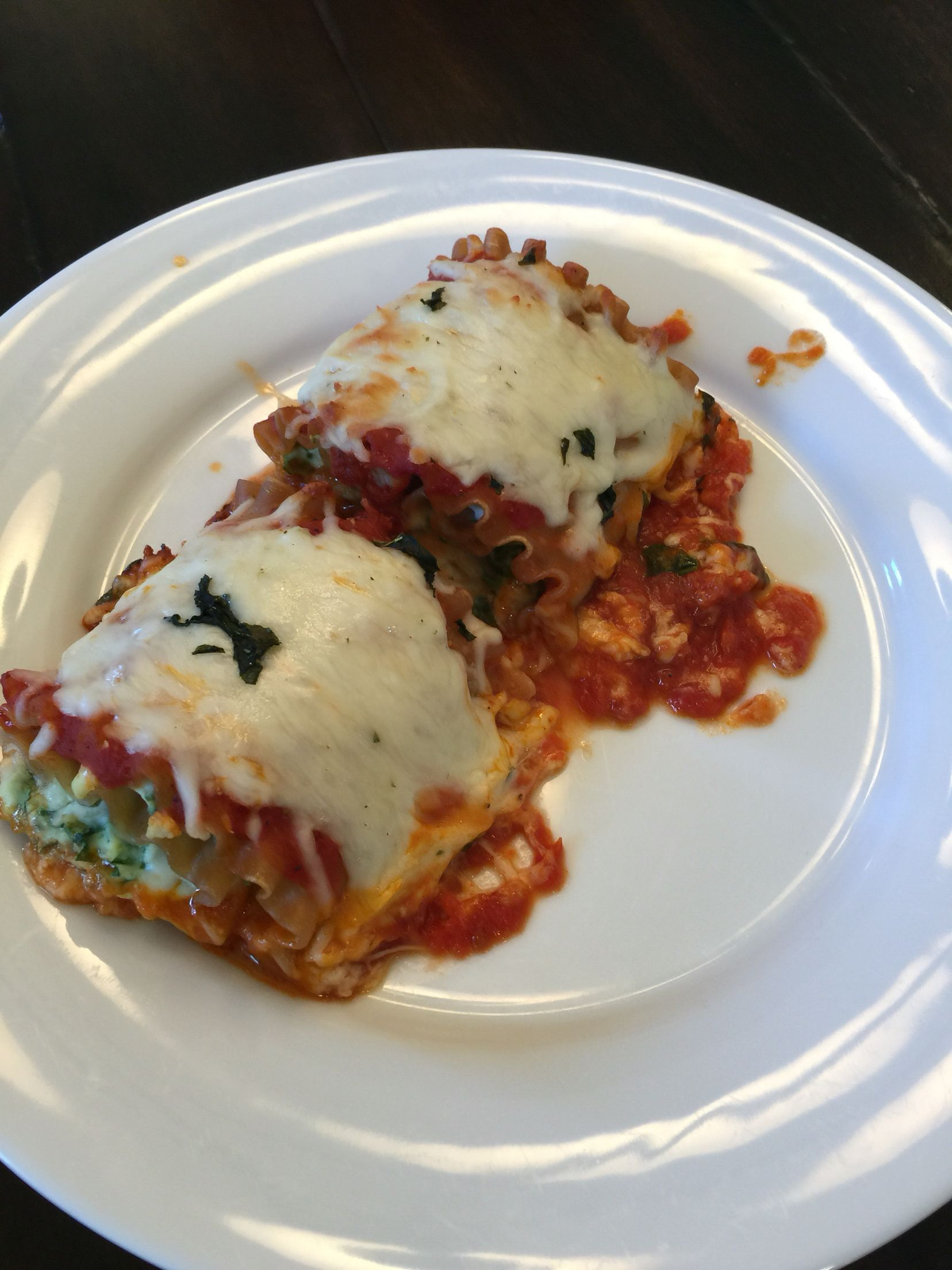 Modified From How Jen Does It   Spinach Lasagna Rollups. Replaced Cottage  Cheese With Ricotta