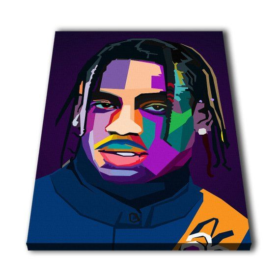 0abd932d9dbe Travis Scott Wpap Canvas Giclee Print Painting Picture Wall Art Split  Canvases Home Decorations, Gif