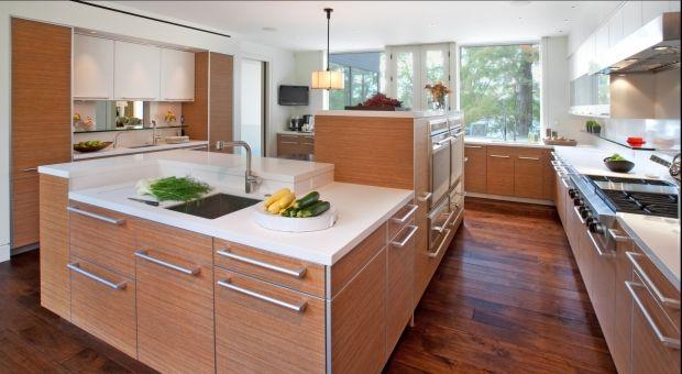 Modern Ushaped White Kitchen Cherry Fir Cabinets Hamiltongray Captivating Kitchen Designers San Diego 2018