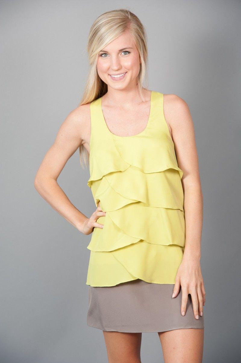 RESTOCK!!! Top Tier Dress- Lime