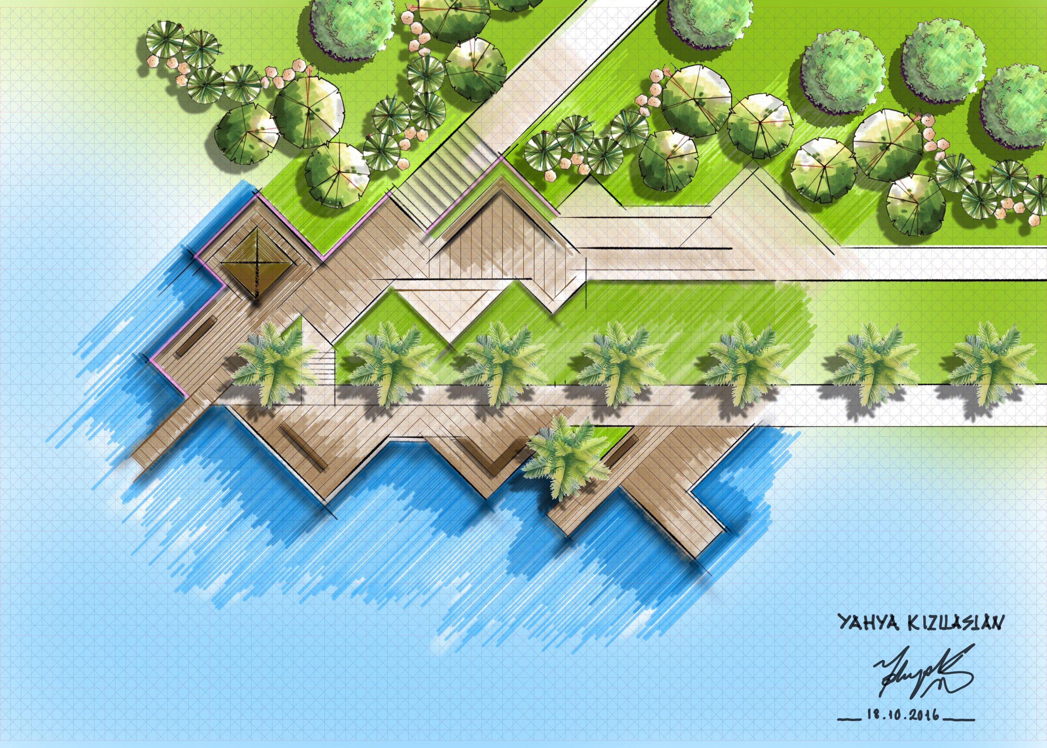 Landscape Sketch Architecture Design Plans Urban Architects Landscaping