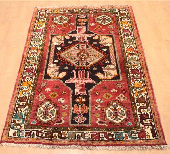 Handgeknüpft wunderschöne Teppich 198 x 130 cm carpet
