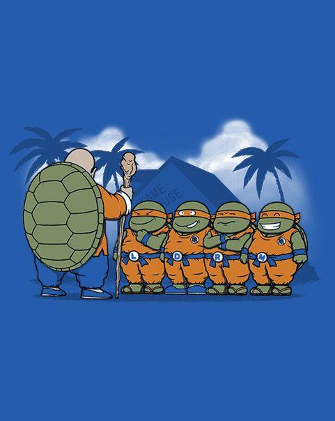Ninja Kame Students T Shirt The Shirt List Dragon Ball Geek Art Nerd Art