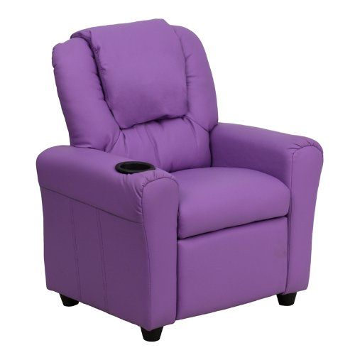 Kids Recliners Flash Furniture Dgultkidlavgg Contemporary Lavender Vinyl Kids Recliner With Cup Holder An Kids Recliners Furniture Flash Furniture