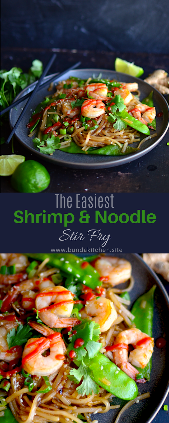 The Easiest Shrimp & Noodle Stir Fry {Naturally Gluten Free} - BUNDA KITCHEN #stirfryshrimp The Easiest Shrimp & Noodle Stir Fry {Naturally Gluten Free} - BUNDA KITCHEN #stirfryshrimp
