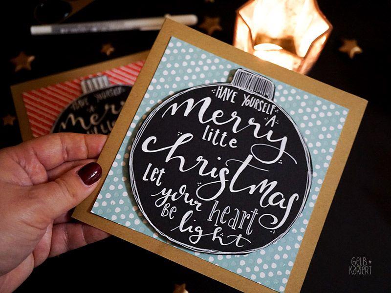 handlettering weihnachtskarten basteln calligraphy diy. Black Bedroom Furniture Sets. Home Design Ideas