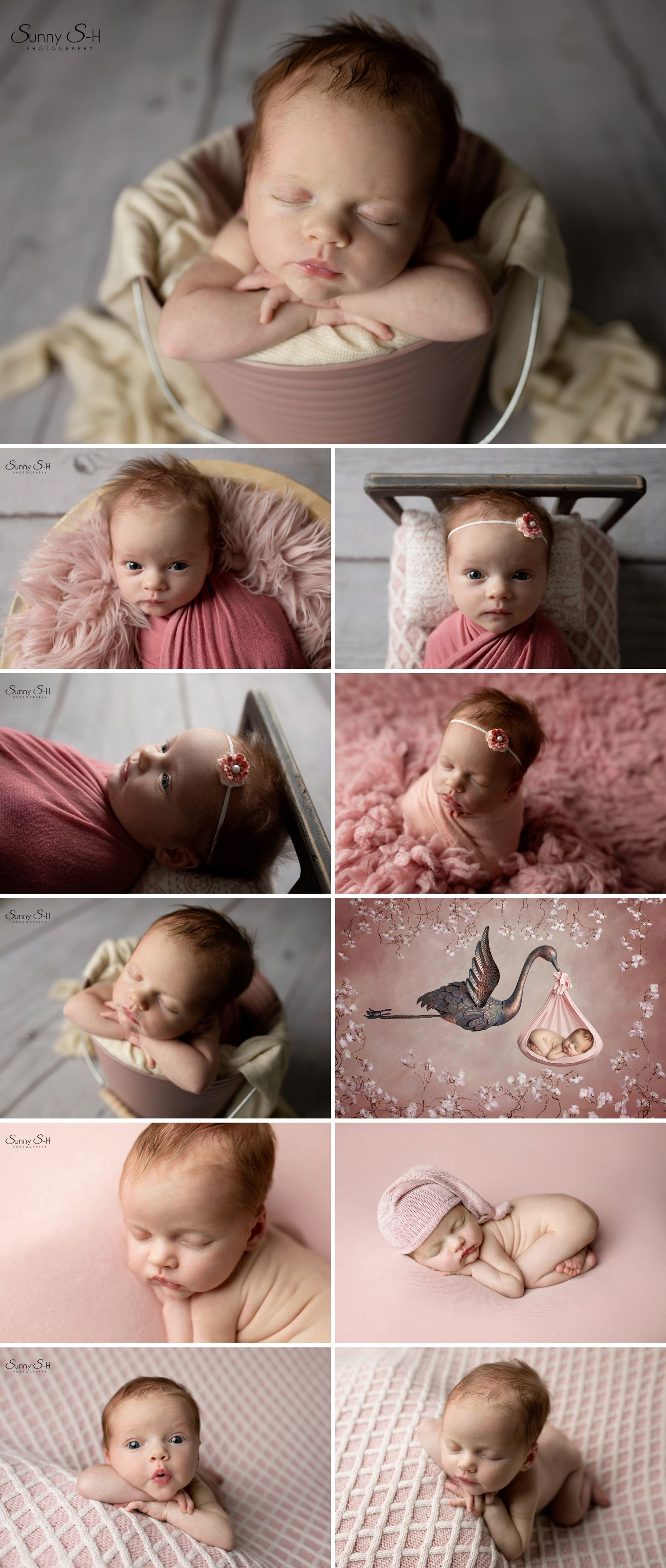 15 day old madeline and her pink studio newborn session with sunny s h photography winnipeg