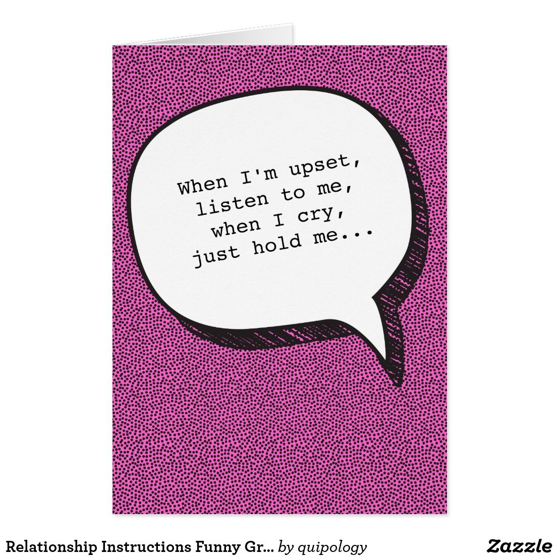 Relationship Instructions Funny Greeting Card Funny Greeting Cards