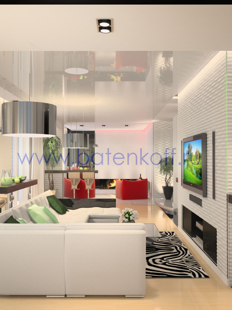 Proiecte de living design interior in casa   Batenkoff.ru