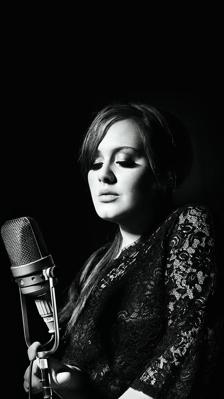 Adele Music Singer Dark Bw Celebrity Wallpaper Hd Iphone Adele