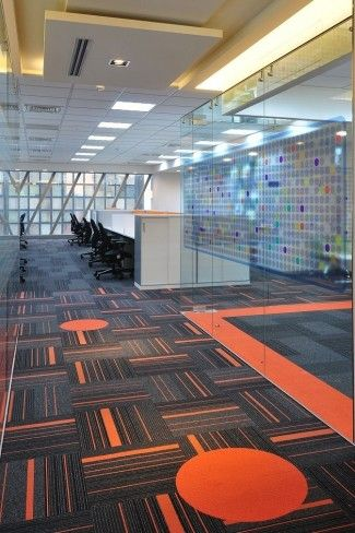 Pin By Iron Age Office On Flooring Fun Office Design Corporate