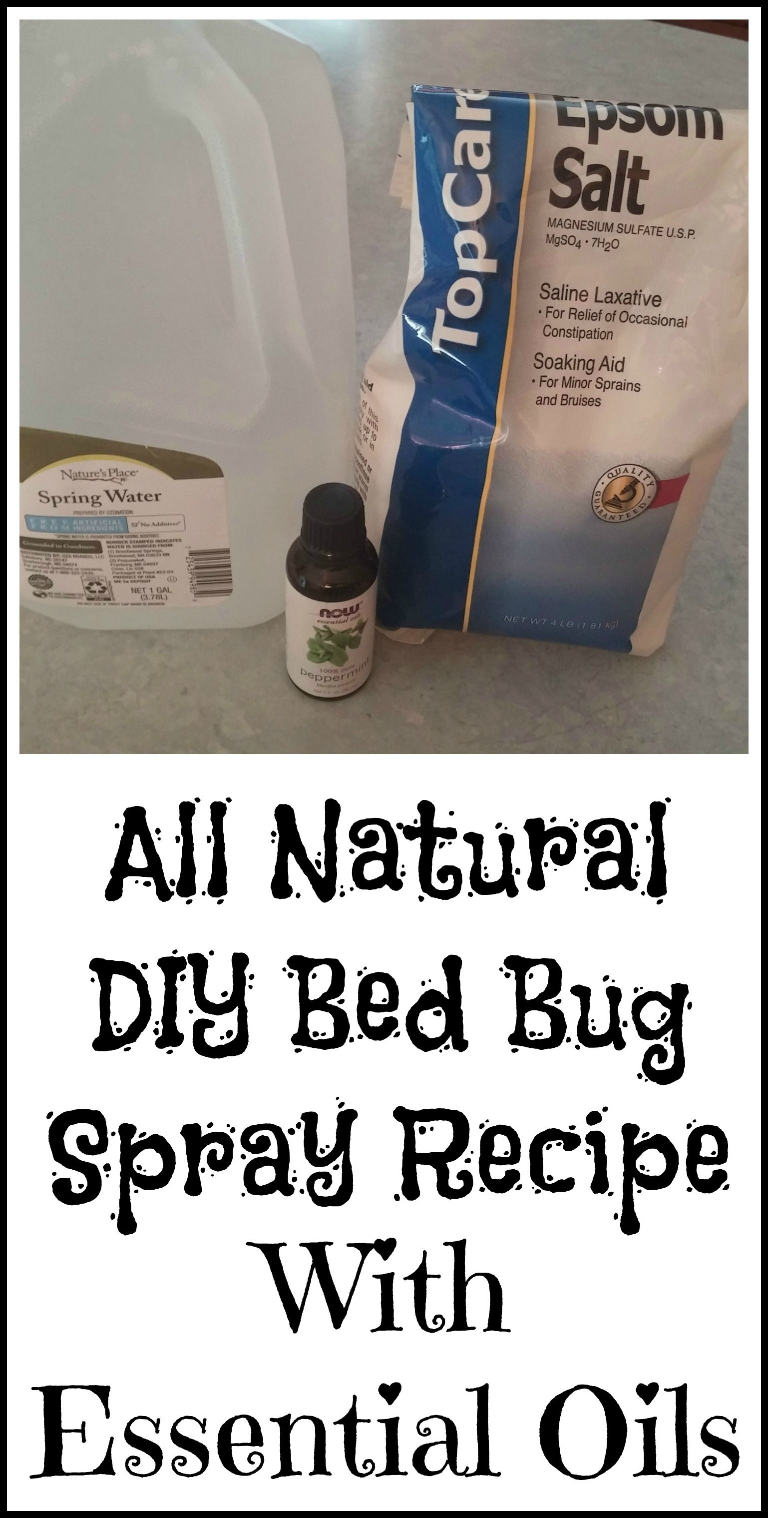 How to make all natural non toxic bed bug spray with essential oils and a few other ingredients.