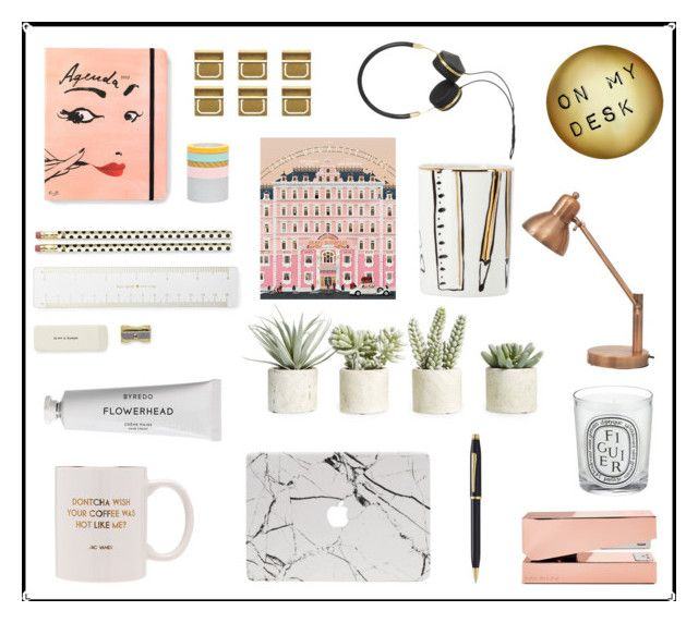 """On My Desk"" by mariannamic ❤ liked on Polyvore featuring art"