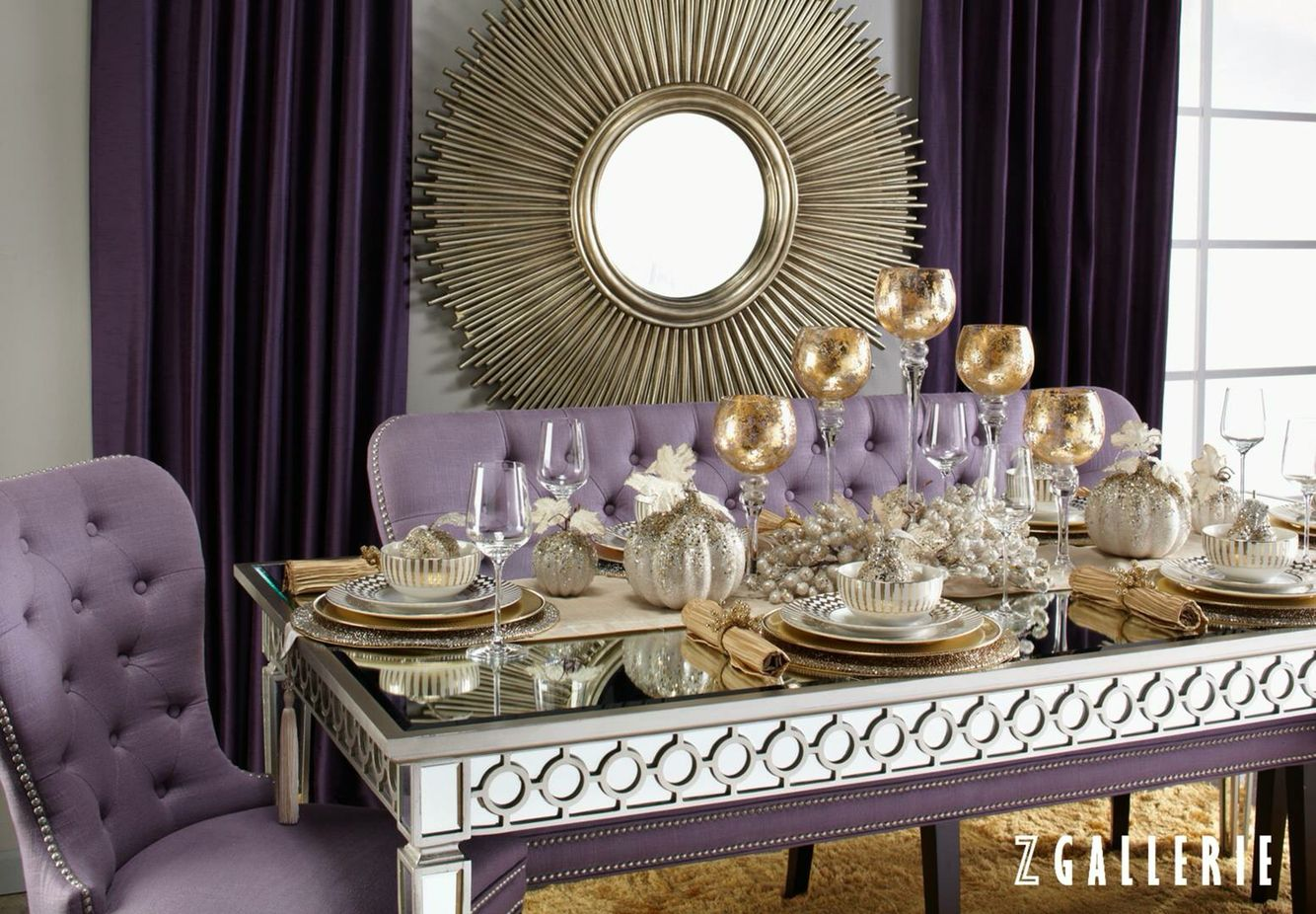 Purple Gold Wildcat Dining Stylish Home Decor Dining Decor Dining Table Decor