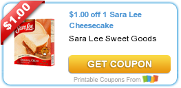Tri Cities On A Dime: SAVE $1.00 ON SARA LEE CHEESECAKE