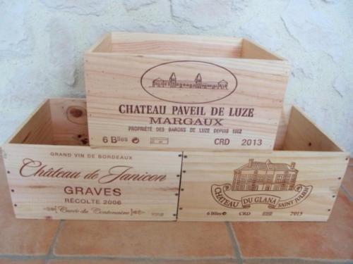 Weinkiste Aus Chateau Frankreich Holzkiste Aufbewahrung Vintage In
