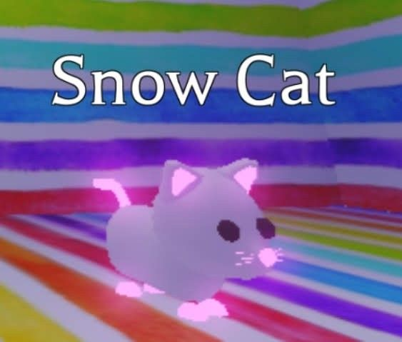 Neon Snow Cat In 2020 Neon Cat Pets Drawing My Animal