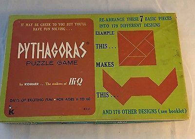 Vintage Kohner Pythagoras Puzzle Game