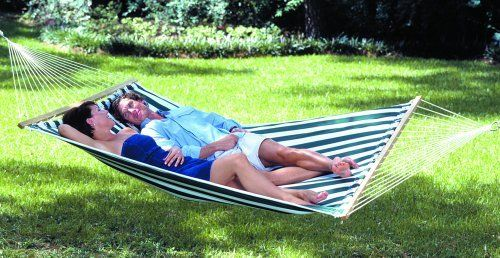 Texsport Lakeway 2 Person Cozy Quilted Cotton Fabric Hammock Sturdy Spreader Bar   eBay