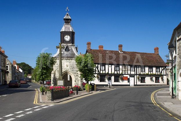 Clock Tower and George Inn at Mere, Wiltshire.