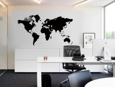 Map Of The World Wall Decals from eFizzle