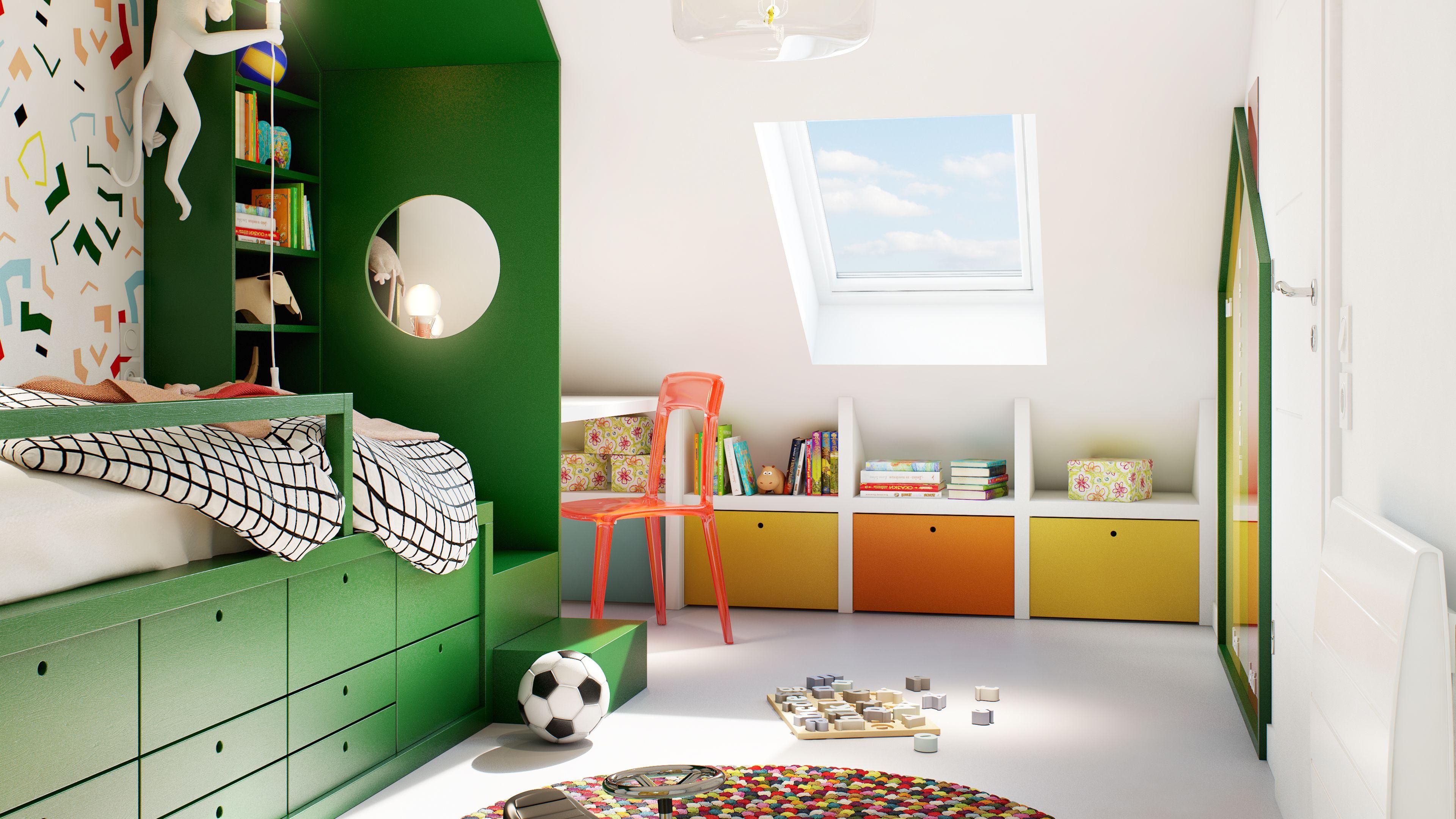 Une Chambre De Garcon Design De Chambre Mansardee Deco Chambre