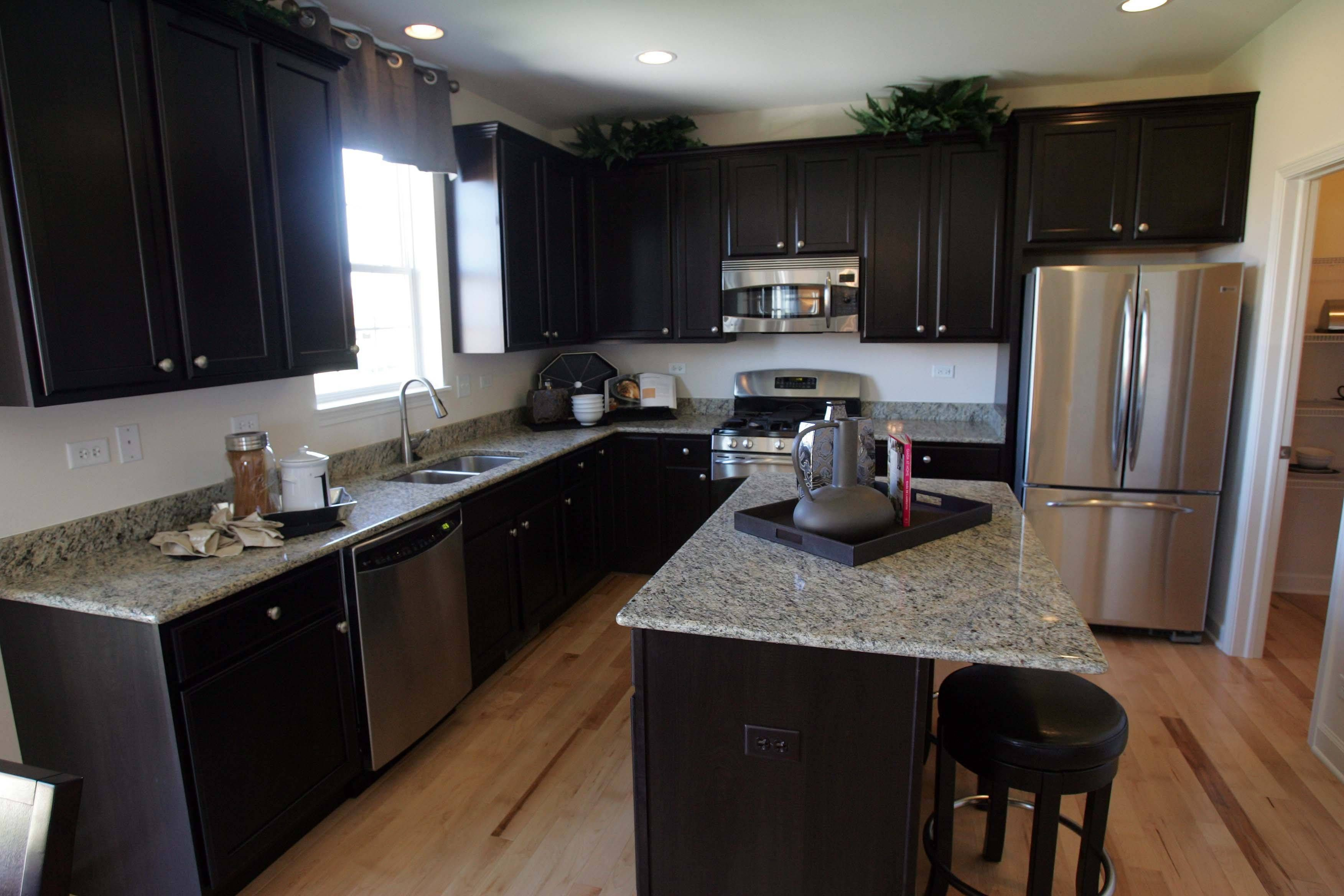 modern kitchen design with st cecilia granite countertops white st