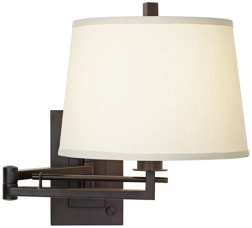 Easley Matte Bronze Plug-In Swing Arm Wall Light - Wall Sconces ...