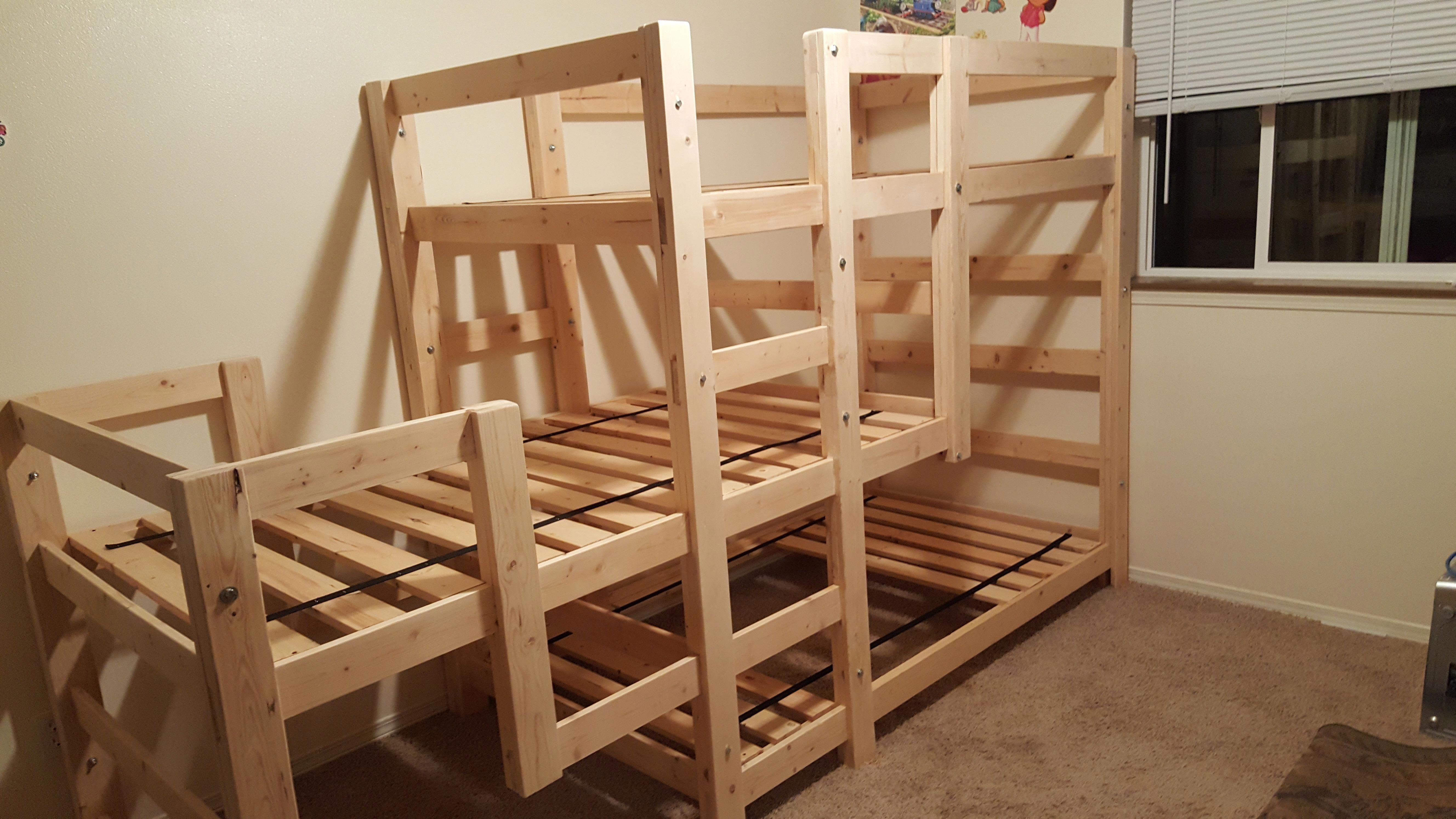 beautiful triple bunk bed Triple bunk bed, Bunk beds