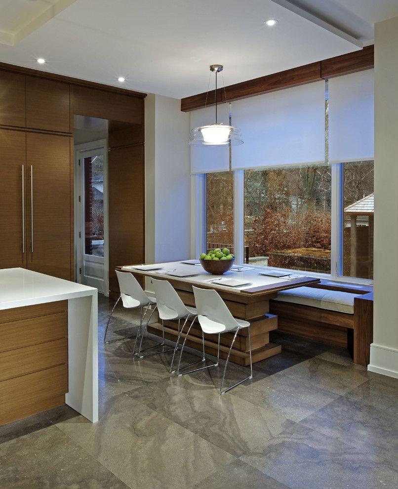 Benchwrightextendingpedestaldiningtablekitchencontemporary Cool Contemporary Kitchen Tables Decorating Inspiration